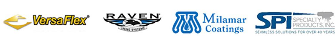 Logos for VersaFlex, Raven, Milamar, Bridge Preservation, and SPI
